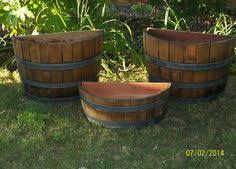 Half Barrel Planter by Half Corner Barrel Planters 45 00 Conants Wine Barrel Creations