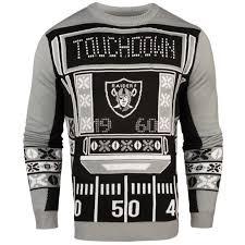 light up sweater raiders nfl mens light up sweater