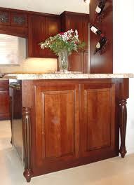 wood kitchen island legs kitchen remodel using osborne island legs in cherry osborne wood