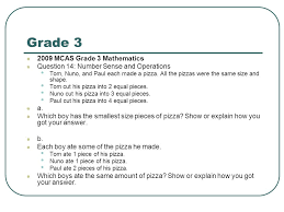 grade 3 mathematics open ended questions from massachusetts ppt