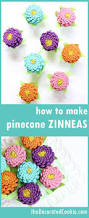 Home Decor Craft How To Paint Easy Pine Cone Zinneas A Colorful Home Decor Craft