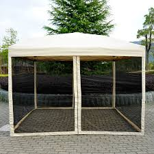 Patio Gazebo 10 X 10 outdoor gazebo canopy 10 u0027 x 10 u0027 pop up tent mesh screen patio