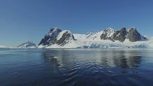 south polar shoreline south polar ice sheets flow downward to the
