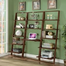 Leaning Bookshelf With Desk Desk With Bookcase Attached Bookcase Ideas