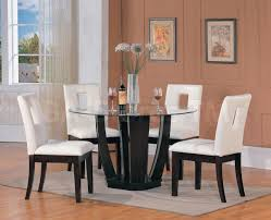 Acme Dining Room Sets by Amusing Round Dining Table 4 Chairs Casual Room Glass Top Acme