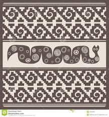 stylized snake and ornaments illustration royalty free stock