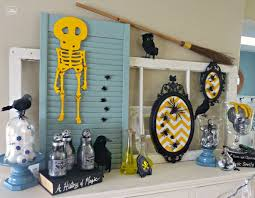 Halloween Skeleton Decoration Ideas Thrifty Halloween Mantel Fun Frugal Ideas For Halloween Decor