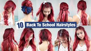hairstyles for back to school for long hair 10 back to school hairstyles l quick easy hairstyles for school