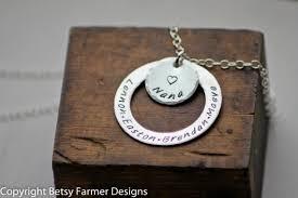 grandkids necklace nana necklace necklace with grandkids names personalized