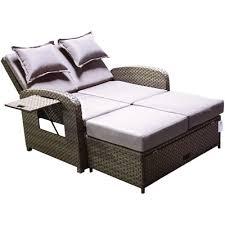 outdoor wicker storage ottoman latitude run kirsten chaise with storage ottoman reviews wayfair