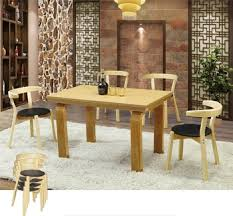 Coffe Shop Chairs Sanlang Solid Oak Wood Chair Table For Shopping Mall Cafe Shop