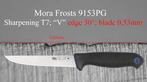 mora frosts filleting knife 9153pg sharpening t7