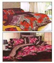 Buy Cheap Double Bed Sheets Online India Homefab India Buy 1 Get 1 Free 3d Printed Double Bed Sheet Buy
