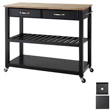crosley furniture kitchen island shop crosley furniture 42 in l x 18 in w x 36 in h black kitchen
