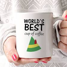 world u0027s best cup of coffee u0027 elf mug by lucky roo