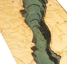 Gulf Of Mexico Depth Map by Custom Wood Charts Of Canandaigua Lake From Carved Lake Art