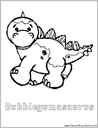 bubblegumasaurus coloring page