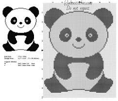 a panda animal for babies free simple cross stitch pattern 73 x 90