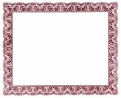 certificate border word yellow certificate border template free