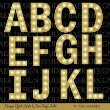 digital marquee letters digital font letter clipart