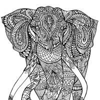 100 pagini colorat gratuite pentru adulti copii elephant