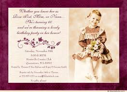 purple leaves 60th birthday invitation lady lovely party
