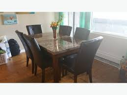 Ottawa Dining Room Furniture Marble Dining Table Set The Brick With 6 Chairs Central Ottawa