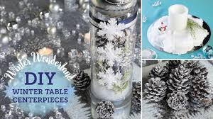 Make Your Own Christmas Centerpiece - diy winter wonderland table centerpieces fake snow