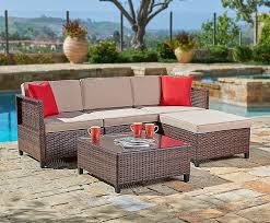 suncrown outdoor furniture sectional sofa 5 piece set all