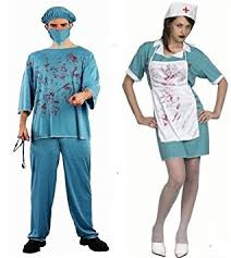 Bloody Nurse Halloween Costume Halloween Doctor Death Bloody Surgeon Scrubs Fancy Dress
