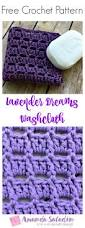 Free Crochet Patterns For Home Decor Lavender Dreams Washcloth Free Crochet Pattern Easy Patterns