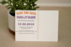 save the date post cards orange and purple state of tennessee save the date wedding save
