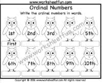 number u2013 ordinal numbers free printable worksheets u2013 worksheetfun