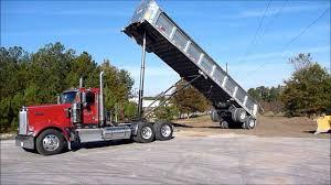 kenworth tractor kenworth w900l dumping frameless dump trailer youtube