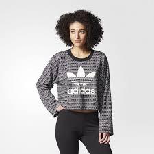 adidas crop top sweater adidas s originals pavao sweater crop pullover sweatshirt