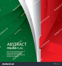 Italain Flag Abstract Italian Italy Flag Vector Art Stock Vector 187311326