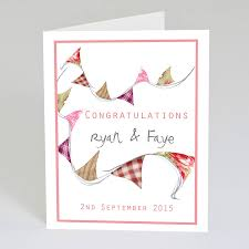 congratulations card personalised wedding congratulations card by violet pickles