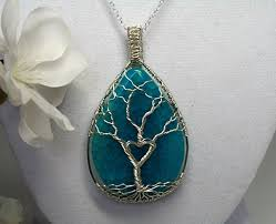 sterling silver stone necklace images Ethereal earth stone necklace sterling silver wire jpg