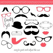 Photo Booth Accessories Photo Booth Props Clipart 48