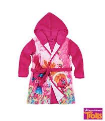 robe de chambre violetta trolls robe de chambre à capuche polaire toucher doux lamaloli b2b