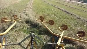 raking hay with vermeer wr22 rake youtube