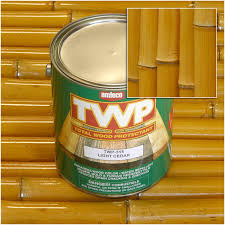 bamboo stain sealer and protectant for fencing poles