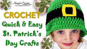 st patrick u0027s day hat free crochet pattern right handed youtube