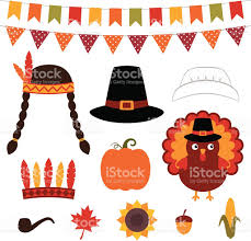 thanksgiving emojis thanksgiving vector decoration and photo booth props stock vector