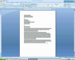 tutorial youtube word formal letter template microsoft word microsoft word 2007 business