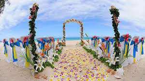 flower arch hawaii weddings custom designed alters on oahu