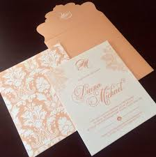 peach u0026 cream wedding invitation wedding peach cream