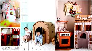 entertain your kids with creative diy cardboard houses