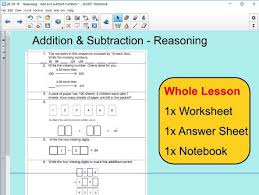 whole lesson reasoning addition and subtraction ks2 year 5