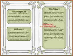 Funeral Programs Samples 12 Free Printable Funeral Program Template Authorizationletters Org